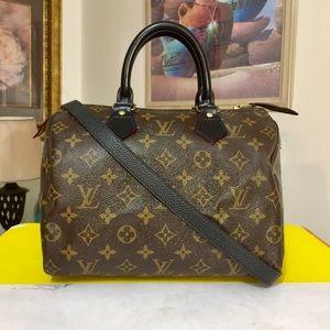 Louis Vuitton Speedy 25 Shoulder Bag 💼 Black